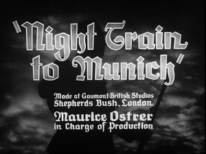 Night Train to Munich Title Card