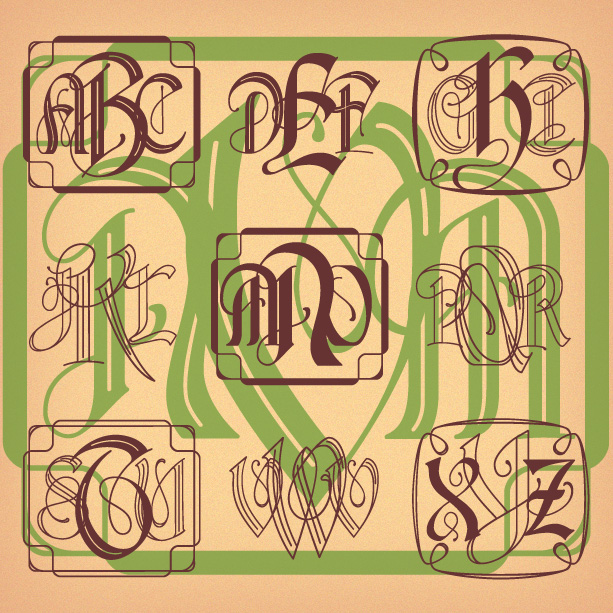 Monograms Archives Harold S Fonts